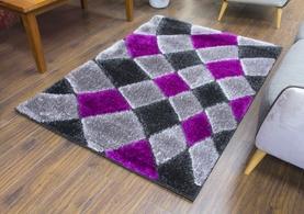 Supreme Rug - Grey/Purple