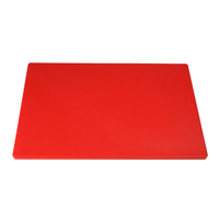 "Low Density Chopping Board 18""Lx12""Wx0.5""D Red"