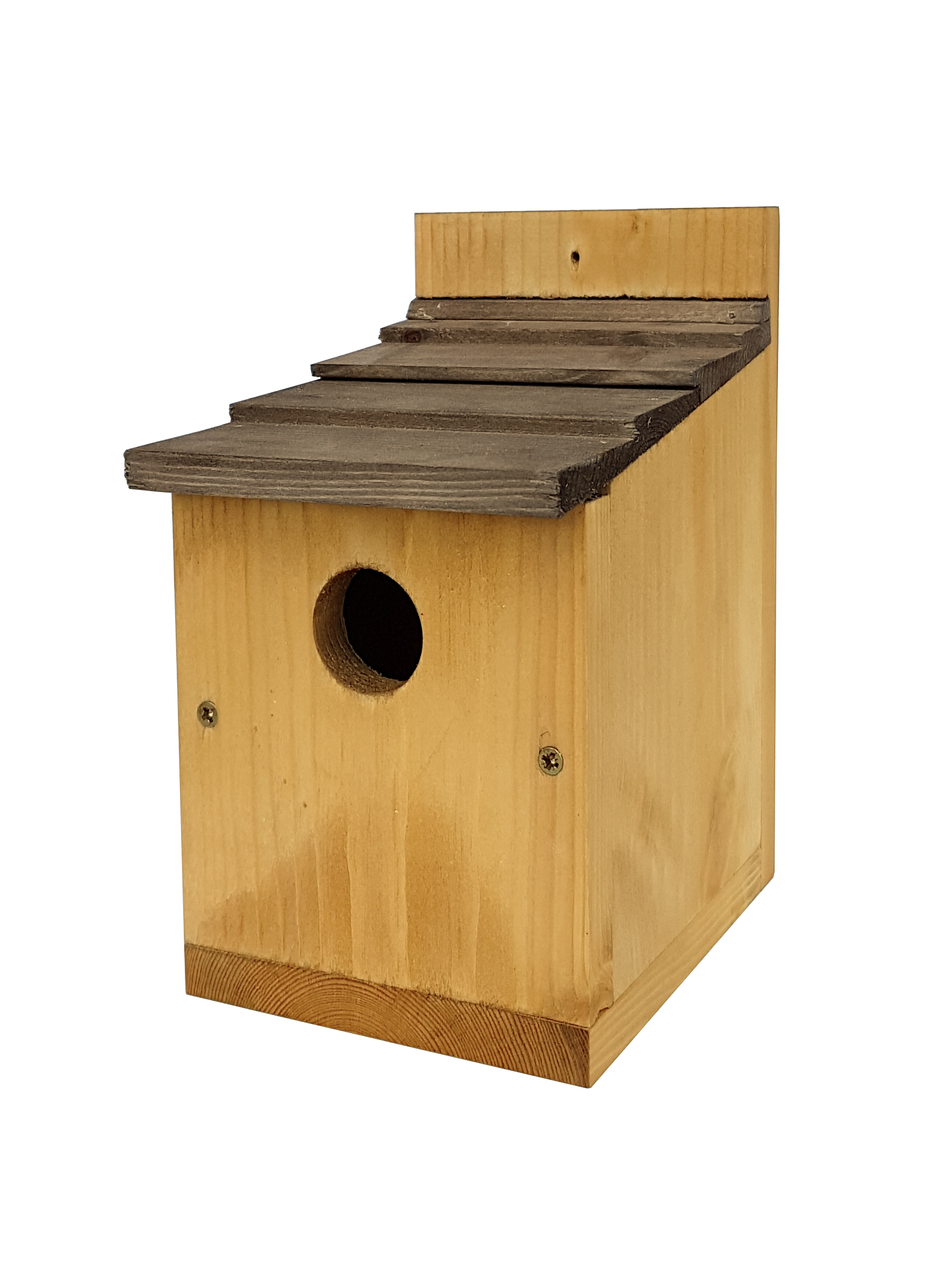 Johnston & Jeff Classic Nest Box with Shingles  Roof