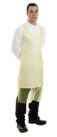 PE DISPOSABLE YELLOW APRON ON A ROLL