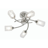 Ofira 5 Light Ceiling Fitting Chrome