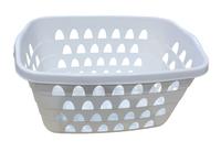 Rectangular Laundry Basket 60X40Cm White