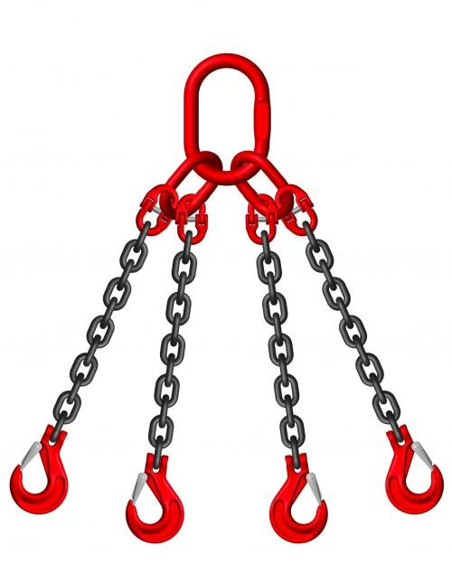 4 Leg Chain Sling c/w Safety Hook (WLL 4T-7T)