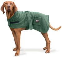 "Danish Design Towelling Dog Robe 20"" Green x 1"