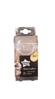 Tommee Tippee Closer To Nature Easivent Variable Flow Twin Pack Teats 0Months