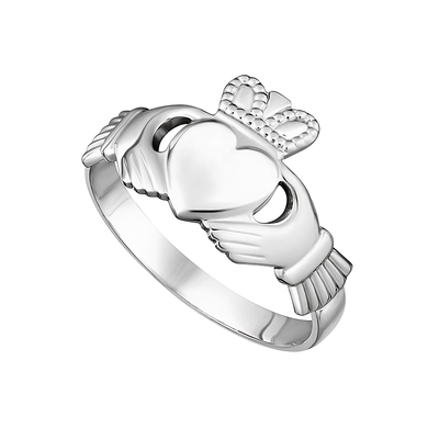 14KW MAIDS CLADDAGH RING