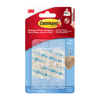 Command Mini Clear Hooks with Clear Strips 17006CLR