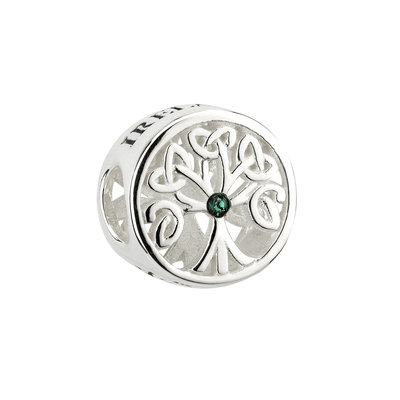 sterling silver tree of life bead s80624 from Solvar