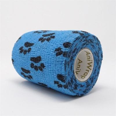 Purfect Aniwrap Cohesive Bandage Paw Print Blue 7.5cm