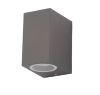 ZINC ZN-31759-ANTH FLEET SQUARE  GU10 UP/DOWN EXTERIOR WALL LIGHT ANTHRACITE