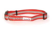 Doodlebone Adjustable Bold Collar Large - Reflective Red x 1