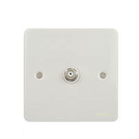Flat Plate WH SATELLITE Socket WHITE LV0701.0577