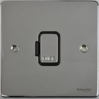 Schneider Ultimate Low Profile Fused Spur without switch Polished Chrome with Black Insert | LV0701.0240