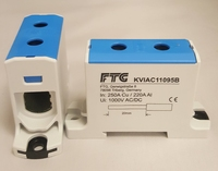 FTG 6-95SQ DIN RAIL Power Block Blue
