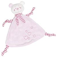 Pink Cuddly Baby Teething Bear
