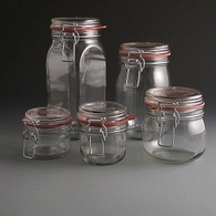 Glass Clip Top Storage Jars