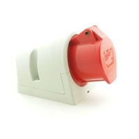 CEE UI4326SRU Wall Socket 32A 400V 5P Red