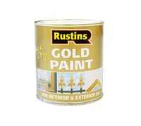 RUSTINS QUICK DRYING GOLD PAINT EXTERIOR 250ML