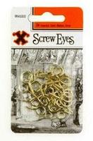 12842 12CARDS BRASSED SCREW EYES