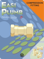 """Easi Plumb 1"""" F.I. Straight Brass Compression Coupling"""