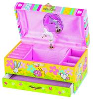 Music Box W/Drawer Tune Twinkle little star. (Goki)