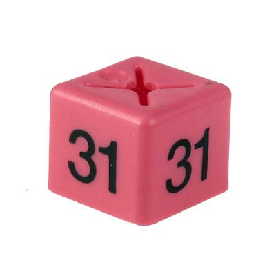 SHOPWORX CUBEX 'Size 31' Size cubes - Pink (Pack 50)