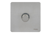 Schneider 1g 2way Mains & Low Voltage Stainless Steel|LV0701.2310