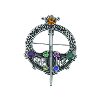 RHODIUM PLATED TARA BROOCH