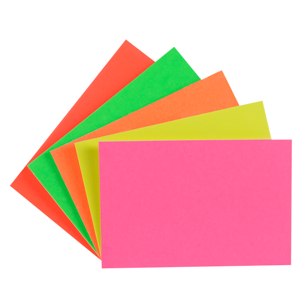 """LYNX CA3 6"""" x 4"""" fluorescent card (10 Pack of 24) Assorted"""