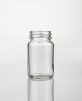Powder Bottles Clear Glass No Cap 60ml P