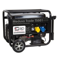 Medusa T5501 Generator 6.75kva (5.5KW) peak 6.25 (5KW) continuous power, Electric start 13HP engine 25L fuel tank (Ploughing Special Discount Price)
