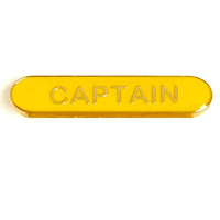 Captain - Bar Shaped School Badge (Yellow)