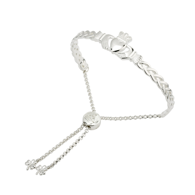 CELTIC CLADDAGH DRAW STRING BANGLE