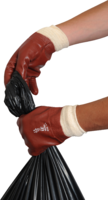 Red PVC Knitted Wrist Glove (R123)