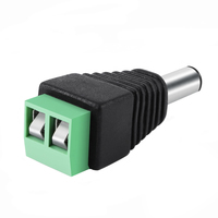 DC Power Plug Jack Adapter Connector for CCTV, Male