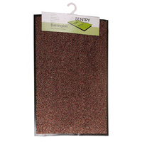 Sentry Barrington Cotton Washable Mat 50x80cm Dark Brown