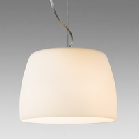 NIMS 350 WHITE GLASS AND CHROME PENDANT | LV1702.0071