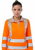 Pulsar PR703 Ladies Rail Spec Long Sleeve Polo Shirt