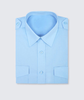 Disley Gents Blue Pilot Shirt Long Sleeve