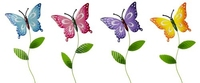 Garden Stick Butterflies 82cm - Mixed Designs