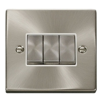 Click Litehouse DECO 3G 2Way Ingot Switch White Insert Satin Chrome