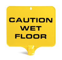 SAFETY SIGN RECT CAUTION WET FLOOR
