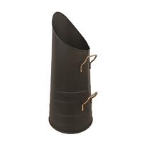 22'' Coal Hod Black/Brass Handle