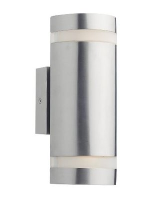 Wessex 2 Light Wall Bracket Cylinder IP44 LED, Stainless Steel  | LV1802.0173