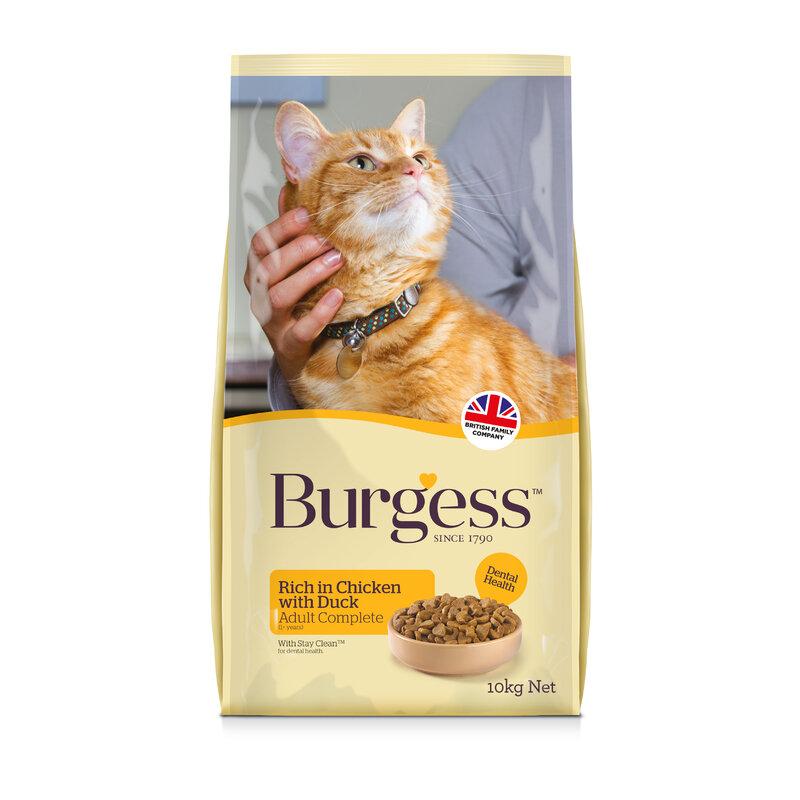 Burgess Chicken & Duck Adult Cat Food 10kg