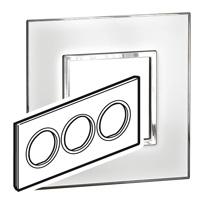 Arteor (British Standard) Plate 6 Module Round Mirror White | LV0501.0176