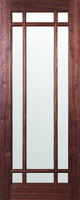 DEANTA NM5 BEVELLED GLASS WALNUT DOOR 1981MM X 838MM X 45MM