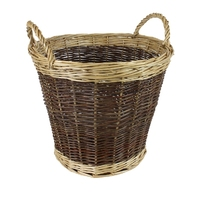 2 Tone Large Wicker Round Basket without liner