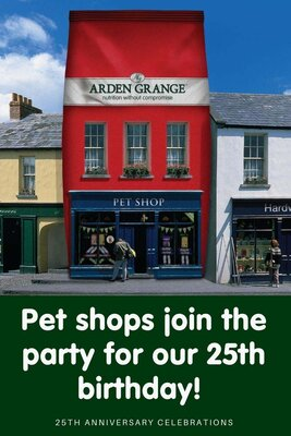UK pet shops join our 25th anniversary celebrations