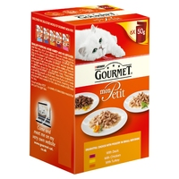 Gourmet Mon Petit Delightful Choice with Poultry 50g 6pk x 8